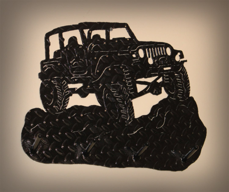 Jeep silhouette coat rack