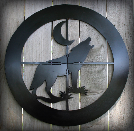 Coyote in the crosshairs wall art