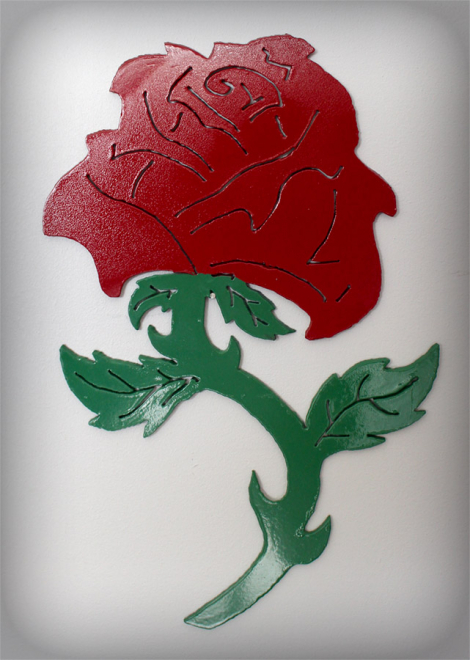 Painted rose wall art
