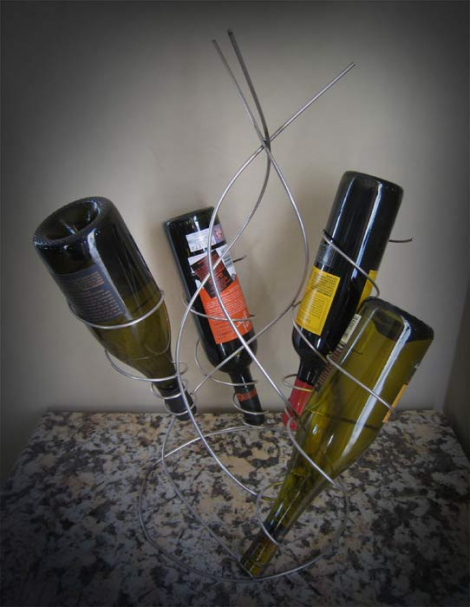 Four bottle wine rack