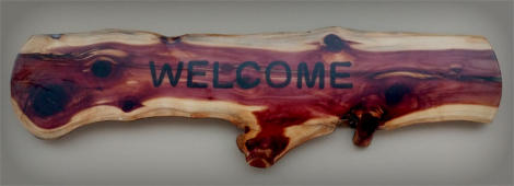 Epoxy Welcome Sign